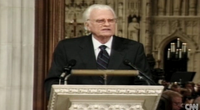 Billy Graham 911 September 11th 2001 Memorial Speech Photo (9/14/01)