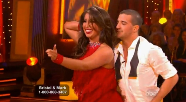 Bristol Palin Mark Ballas Dancing With the Stars September 23 2012 Debut Performance Screenshot