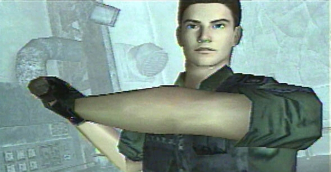 Chris Redfield Resident Evil: Code Veronica Dreamcast Screenshot