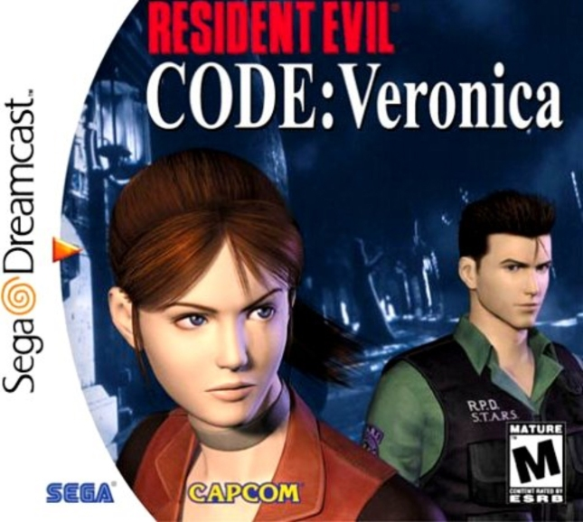Dreamcast Resident Evil: Code Veronica Artwork Chris and Claire Redfield