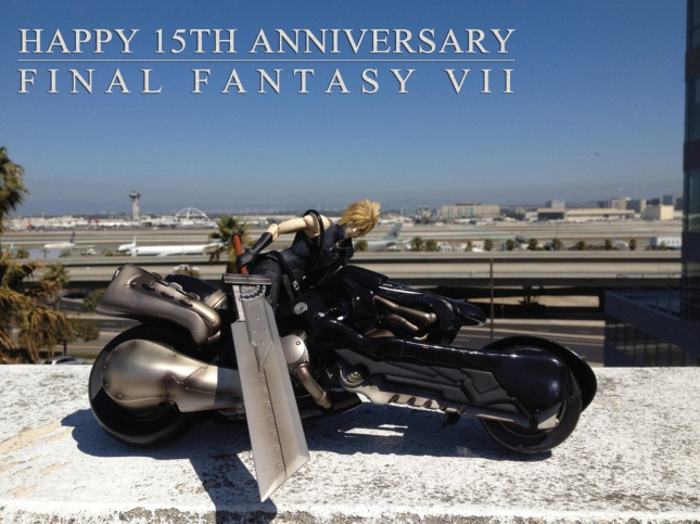 Happy 15th bday FFVII wallpaper. Final Fantasy VII PS1 Anniversary Banner Art