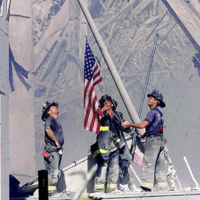 Iconic 911 US Flag Raising Photo Known Worldwide