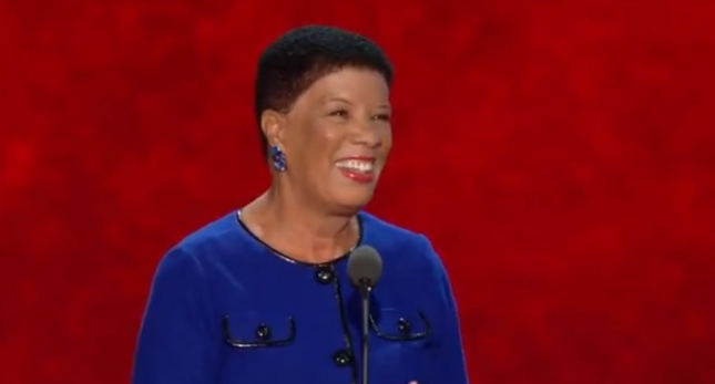 Jane Edmonds RNC2012 Speech Photo Pic. A black Democrat Woman Who Worked With Romney At Mass.