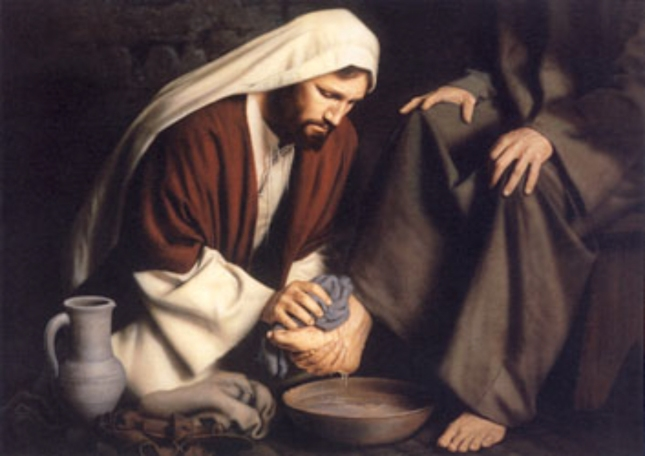 Jesus Teaches Humility. The Master Becomes the Servant