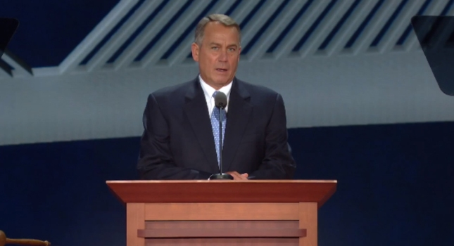 John Boehner RNC2012 Speech Photo From Speaker of the House