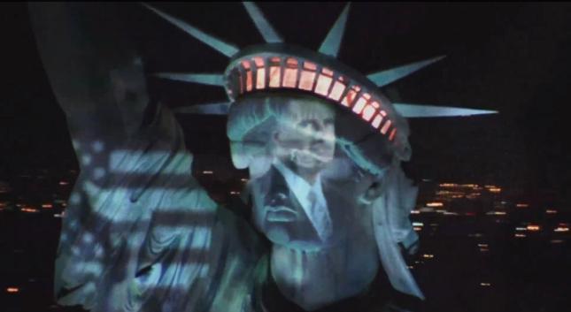 Mitt Romney Statue of Liberty American Flag Wallpaper