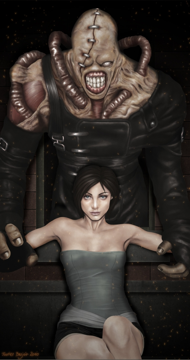 Resident Evil 3 Artwork Beautiful Jill Love By Javier Berjan