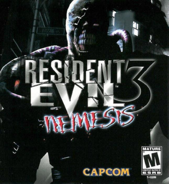 Resident Evil 3 Nemesis Box Art