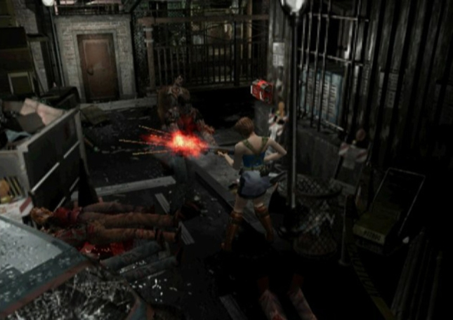 Resident Evil 3 Zombie Killing Screenshot
