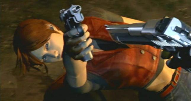 Resident Evil: Code Veronica Claire Gun Intro Wallpaper