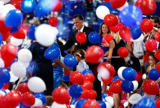 Romney Balloons RNC2012 Republican National Convention Balloon Drop