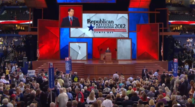 Scott Walker RNC2012 Speech Photo Pic Before Roaring Crowd