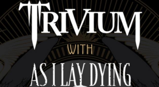 Trivium As I Lay Dying Europe Tour Artwork of logos