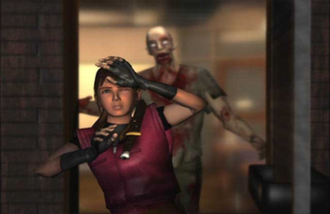 Wait Don't Shoot Wallpaper Claire Resident Evil 2 Cutscene Screenshot of Famous Moment