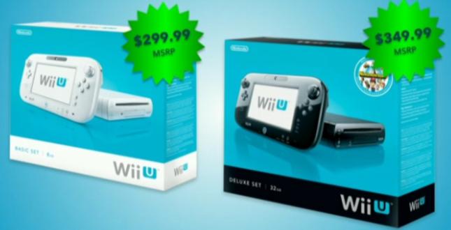 WiiU Price of $300 or $350 Announced