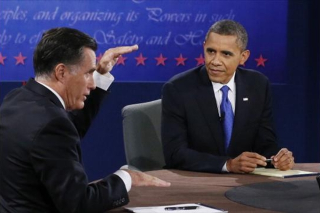 3rd Presidential Debate Obama Watches As Romney Explains