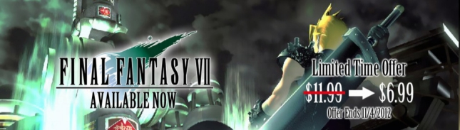 FFVII 2012 PC Square Enix Halloween Sale Banner Artwork