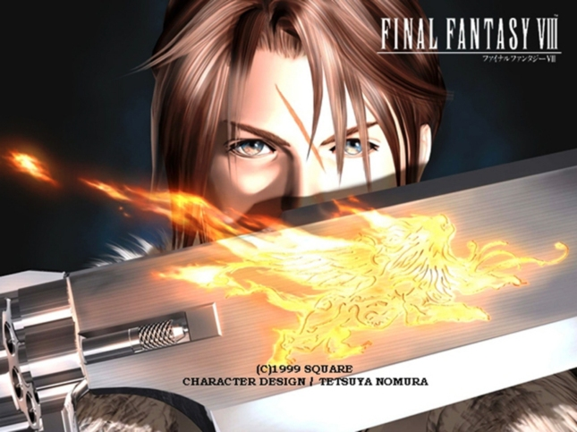 Final Fantasy 8 Squall Gunblade Wallpaper