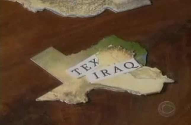 Iraq Fits Inside Texas. Puzzle Pieces Showing Size On Andy Rooney 60 Minutes Segment