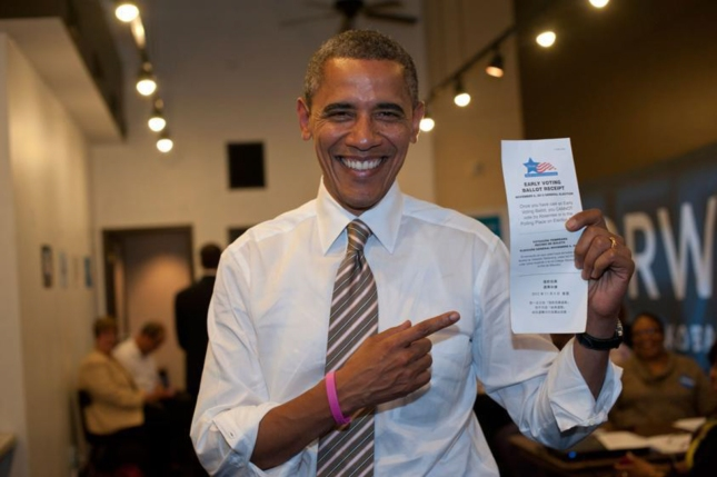 President Obama Votes Early. 1st Sitting President To Cast Early Vote Ballot