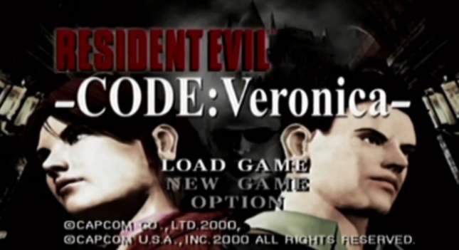 Resident Evil: Code Veronica Title Screenshot Dreamcast (Claire and Chris Redfield)