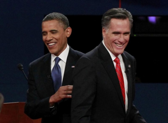 Romney and Obama Together at the First Presidential Debate September 3 2012