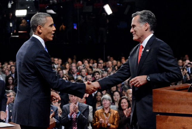 The Handshake Obama Romney Debate October 3 2012