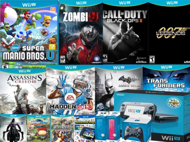 WiiU Launch Games Release List Box Art