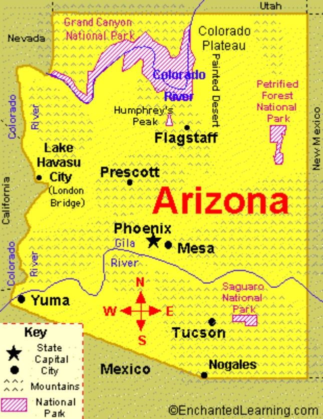 Arizona State Map