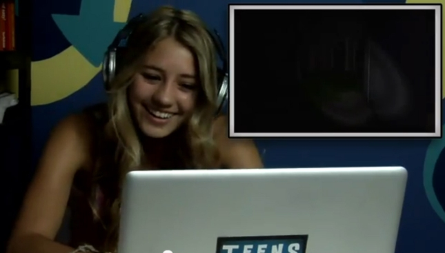 Cute Young Teen Girl Reacts to Slender Man Horror Game