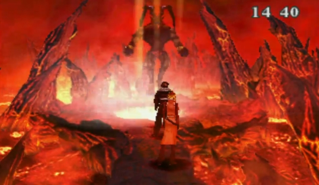 Final Fantasy VIII Ifrit Appears Fire Cavern Fight Guardian Force Gameplay Screenshot FFVIII