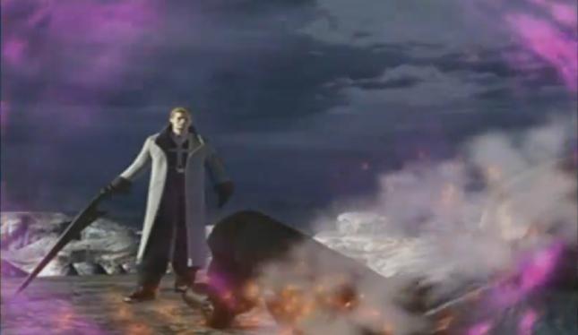 Final Fantasy VIII Seifer Badass Smokes Squall Fire Spell Intro Screenshot FFVIII