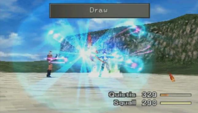 Final Fantasy VIII Squall Drawing Magic Gameplay Screenshot