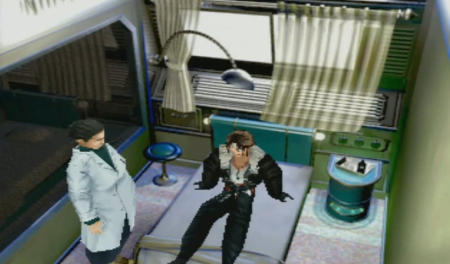 Final Fantasy VIII Squall Wakes Up In Doctor's Office After Seifer Fight Gameplay Screenshot FFVIII