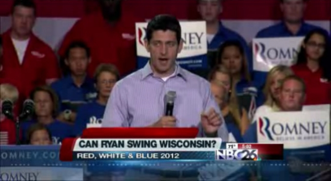 Paul Ryan Swings Wisconsin Voters?