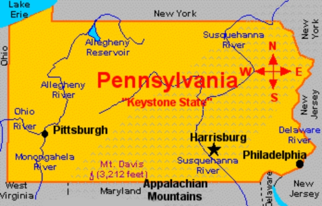 Pennsylvania State Map