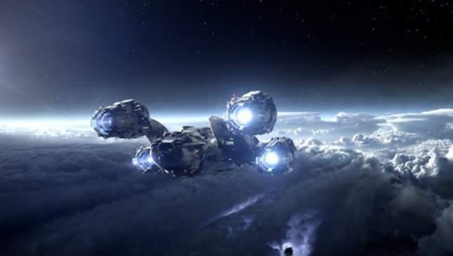 Prometheus Ship In Space Movie Screenshot