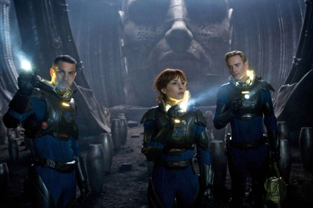 Prometheus Wallpaper Elizabeth Shaw and Crew. Giant Head Screenshot From Movie
