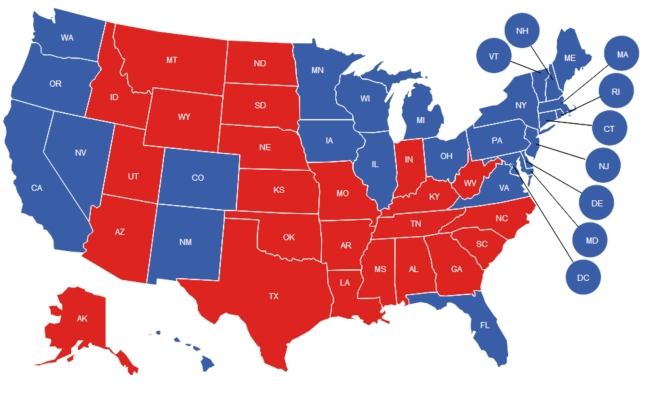 What States Did Obama Romney Win? Election 2012 USA Voter Map Electoral College By State