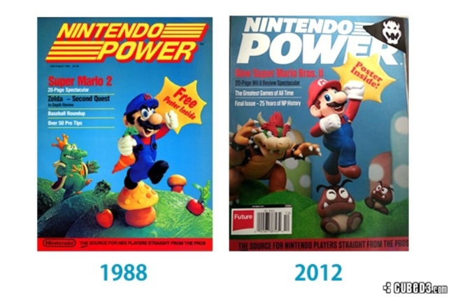 Final Issue Nintendo Power Mag Last Comparison To First Clay Mario Cover
