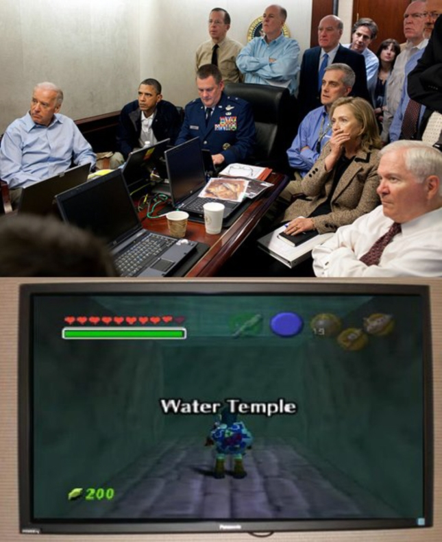 Obama vs Water Temple Zelda Ocarina of Time Funny Photo of the Day