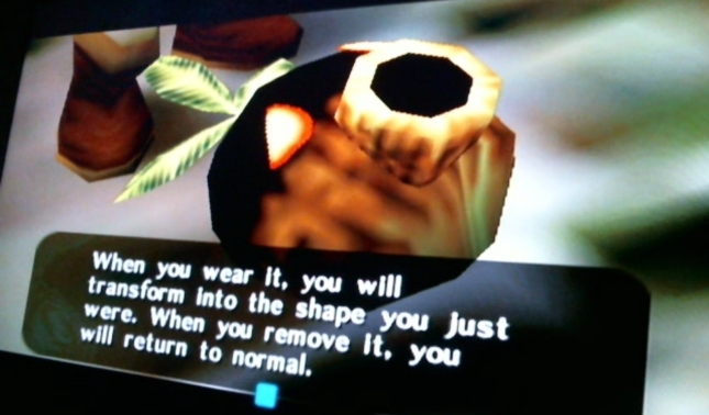 Legend of Zelda: Majora's Mask Deku Transformation Mask Screenshot