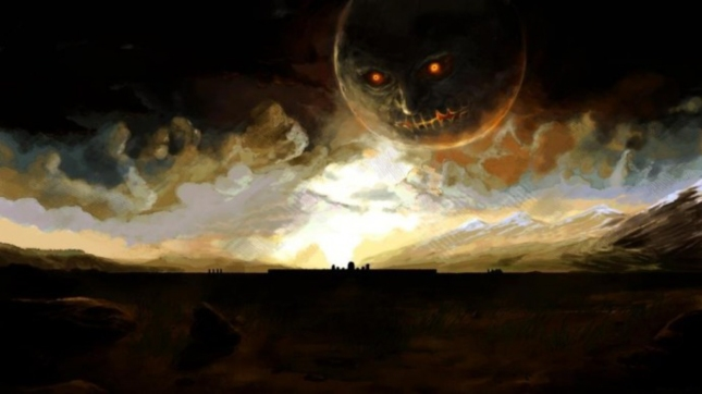 Zelda: Majora's Mask Realistic Eerie Painting Wallpaper By Spire III