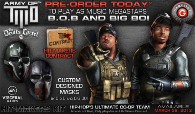 Army of Two: Devil's Cartel Pre-Order B.o.B. and Big Boi Playable Characteres
