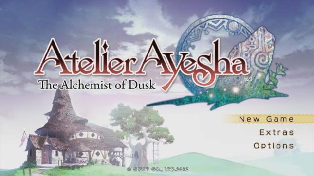 Atelier Ayesha The Alchemist of Dusk USA Title Screenshot