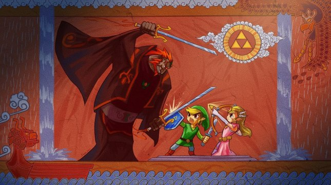 Awesome Toon Link Fighting Ganondorf Artwork Facebook Timeline Cover Zelda Wind Waker  Photo of the Day