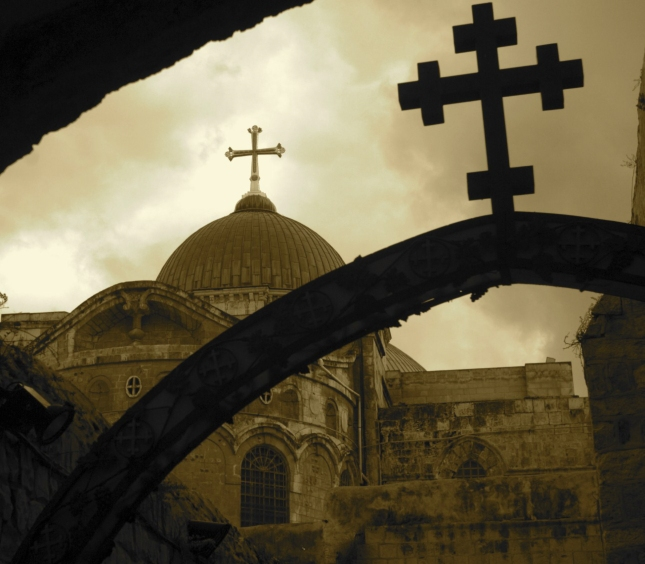 Beautiful Church of Holy Sepulchre Wallpaper In Jerusalem