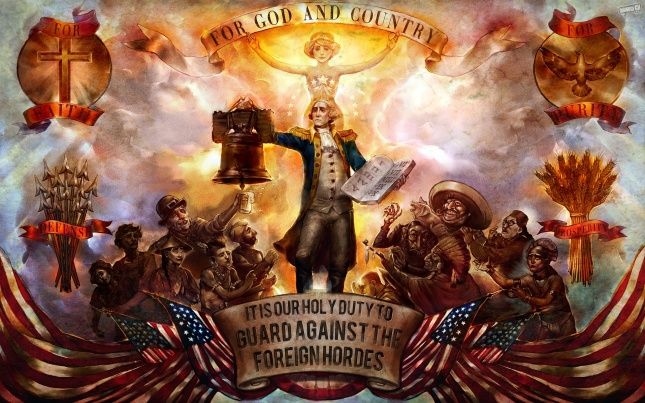 Bioshock Infinite God and Country Founding Fathers Wallpaper
