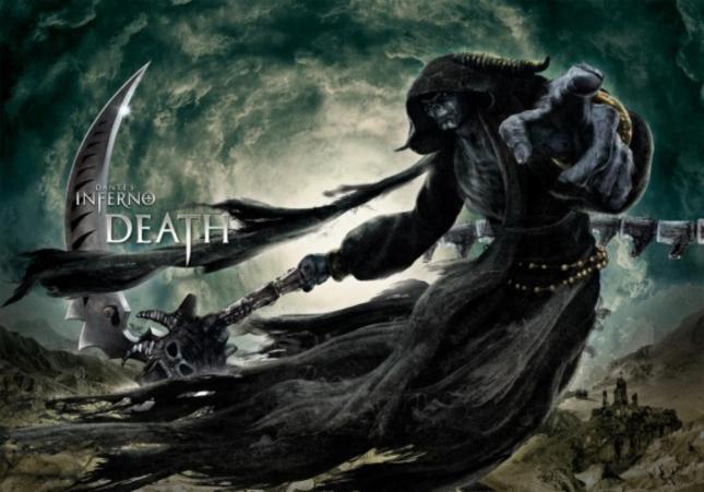 Dantes Inferno Death Wallpaper Videogame Artwork