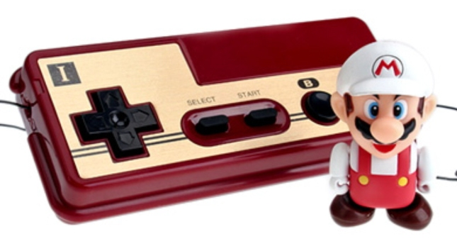 Famicon Mario Toy and Controller